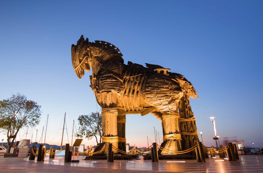 В Турции Троянский конь сгубил туриста. В Турции Троянский конь сгубил туриста