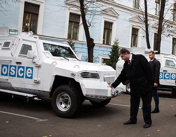 Украинские военные дважды обстреляли миссию ОБСЕ. Машины ОБСЕ обстреляны украинскими военными