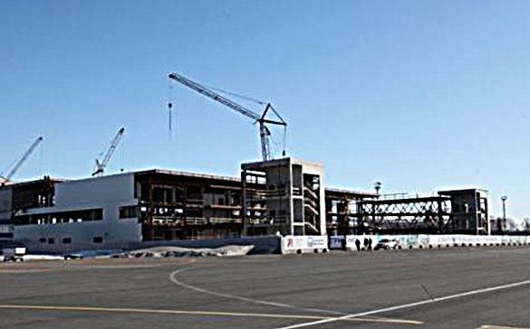 Губернатор Шанцев оценил ход строительных работ нового пассажирского  терминала в Международном аэропорту Стригино. Нижний Новгород