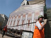 Реконструкция Большого театра отстает от графика