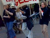 Датчане вышли на митинг против криминального произвола