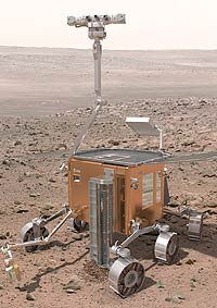 Марс исследует робот с