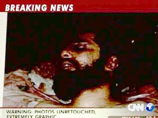 В эфире CNN продемонстрировали тела убитых сыновей Саддама. Они