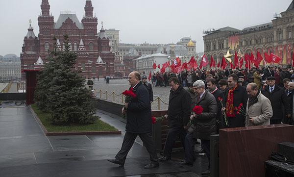 КПРФ проводит в Москве демонстрацию в честь 7 ноября. 303177.jpeg