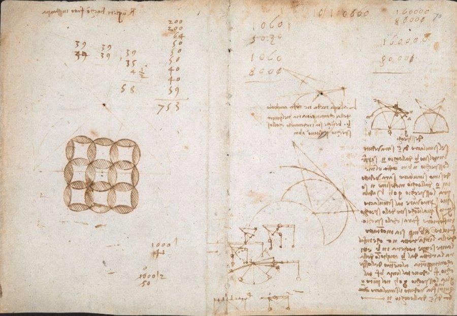 В Сеть выложили блокнот Леонардо да Винчи. В Сеть выложили блокнот Леонардо да Винчи