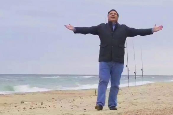 """Саакашвили развеселил соцсети, изобразив """"звезду"""" в фильме про Украину. 382186.jpeg"""