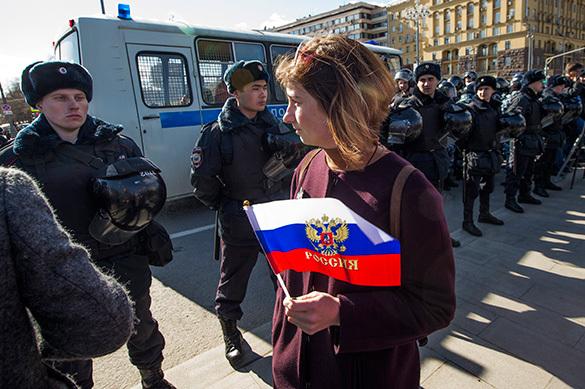 В Кремле дали оценку действиями полиции на митингах 26 марта