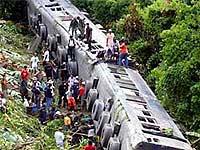 В Китае сошел с рельсов поезд