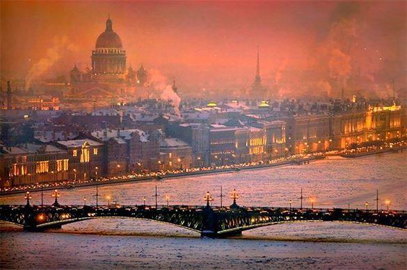 Петербург замерзал по-блокадному