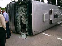 Под Красноярском разбился рейсовый автобус