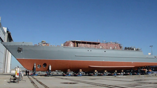 В Санкт-Петербурге из цеха вышел корабль противоминной обороны