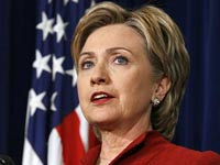 Хиллари Клинтон пострадала, торопясь на работу