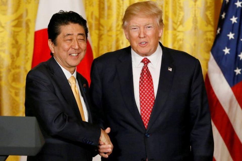 Трамп и Абэ обсудили ядерное испытание КНДР. Трамп и Абэ обсудили ядерное испытание КНДР