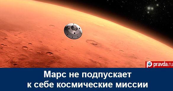 Марс не подпускает к себе космические миссии