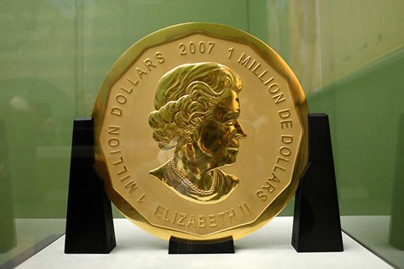 Измузея вБерлине украли золотую монету весом 100кг