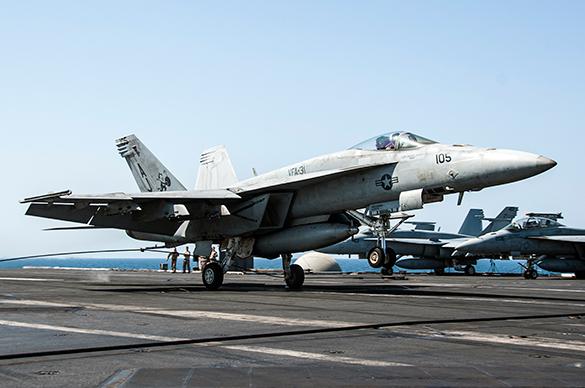 Международная коалиция вновь бомбила Сирию. истребитель
