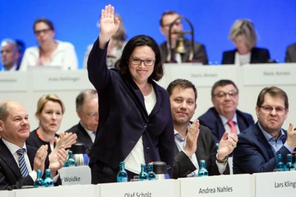 В Германии женщина впервые возглавила Социал-демократическую партию. В Германии женщина впервые возглавила Социал-демократическую пар