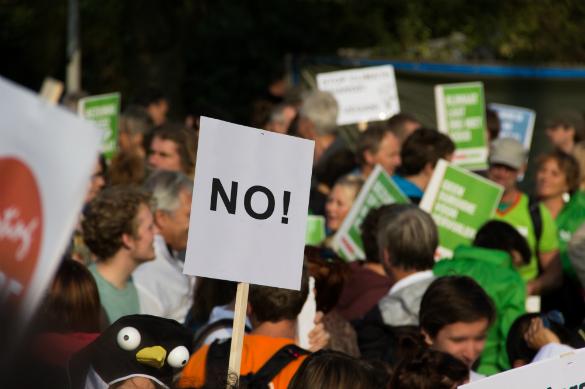 """Война за """"права человека"""" — гибель для человечества. Акция протеста"""