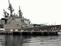 Японский эсминец столкнулся с корейским сухогрузом
