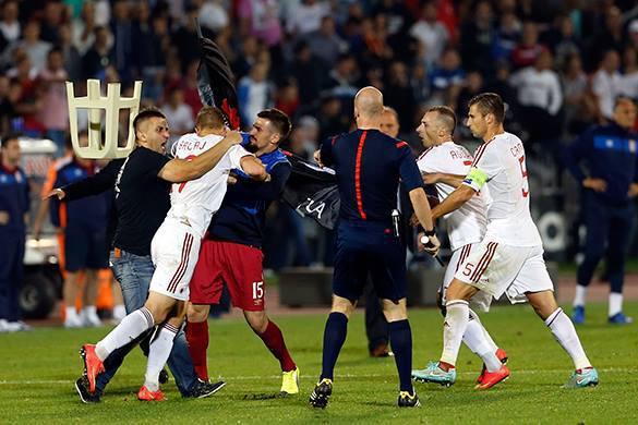 Футбольная ассоциация Албании пояснилав события матча с Сербией. Албания пояснила события матча с Сербией