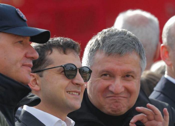 Президент Украины Владимир Зеленский и глава МВД Арсен Аваков