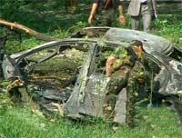 Машину с тремя трупами обнаружили в Дагестане