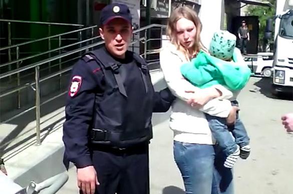 В Екатеринбурге полиция задержала женщину с младенцем за торговл