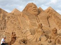 В Турции открылась выставка скульптур из песка