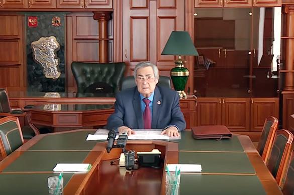 Аман Тулеев попросил Путина об отставке через Сеть. Аман Тулеев попросил Путина об отставке через Сеть