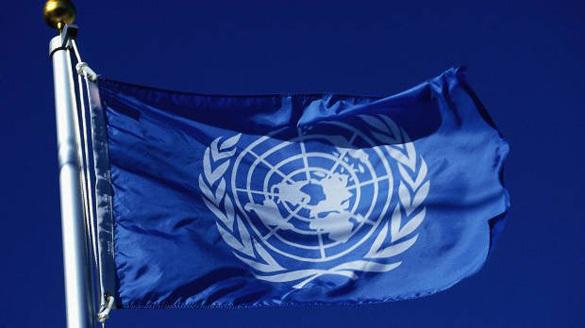 синий флаг ООН