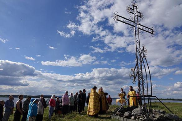 Гигантский поклонный крест установлен в воронке от Челябинского метеорита. 388259.jpeg