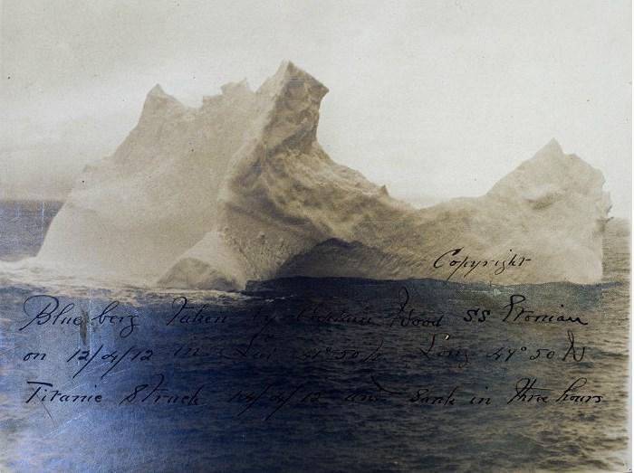 фото айсберга, потопившего Титаник, сделанное утром 15.04.1912