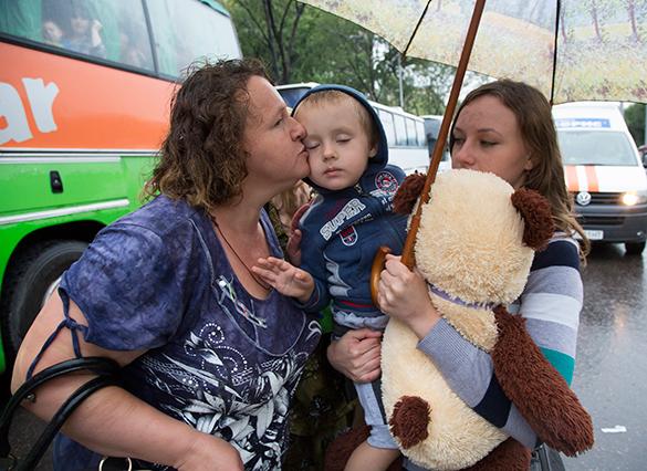 На Украине беженцев загоняют в