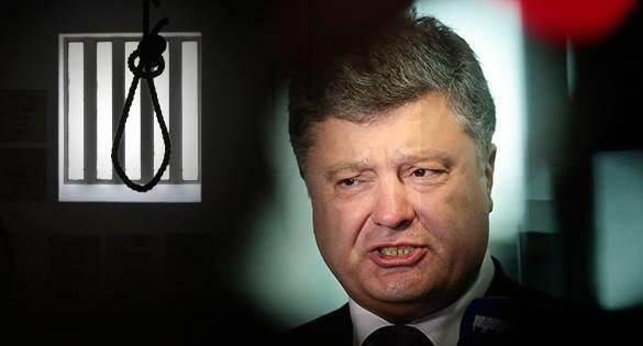 Жители Одессы вздернули на дорожном указателе чучело Порошенко в окровавленной вышиванке. порошенко президент