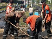 Десятки тысяч железнодорожников вышли на субботник