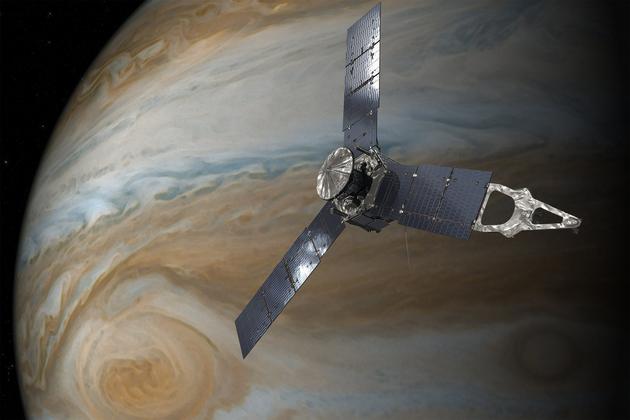 Космический аппарат «Юнона» 10июля впервый раз пройдет над Большим красным пятном Юпитера