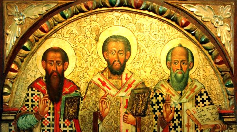 В селе Студянка чудесным образом обновляются иконы. образ Трех Святых