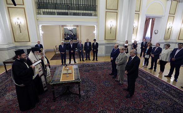 Присяга кабмина в Греции