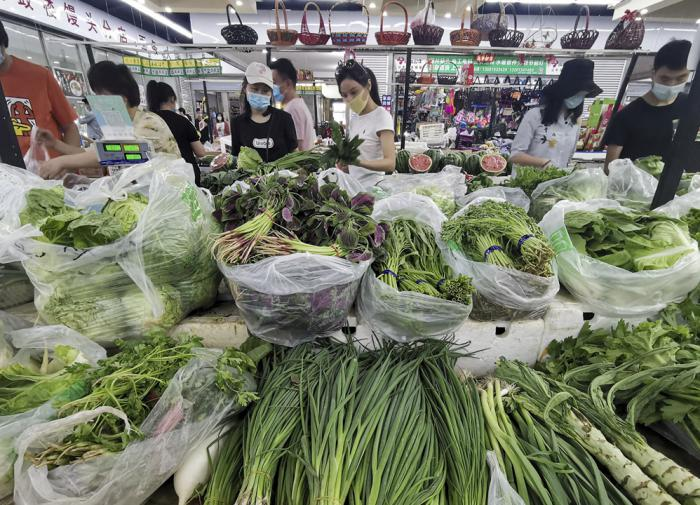 Продуктовый рынок, Китай