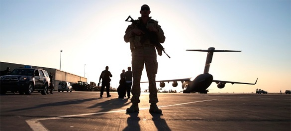 Колонна военной техники США находится на территории  Латвии. В Латвию прибыла колонна военной техники из США