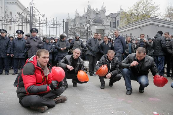 СБУ считает протест шахтеров попыткой захвата власти. Протест шахтеров