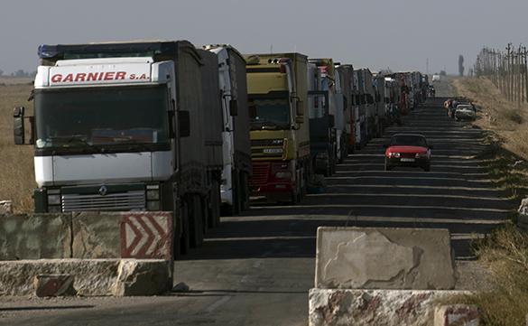 Блокада большегрузов на Украине: Страдают только частники
