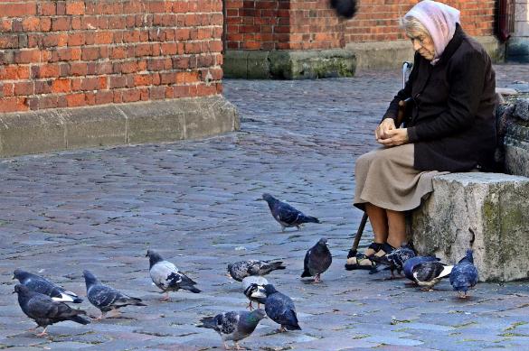 Илларион ГИРС: Латвия хочет избавиться от неграждан естественным путем. Пожилая жительница Риги кормит голубей