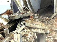 В центре Красноярска рухнула стена дома