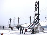 Вандалы надругались над памятником узникам ГУЛАГа в Норильске