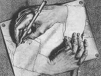 Параллельные миры художника Эшера. Руки