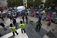 Лондонская полиция разогнала демонстрантов у парламента. london