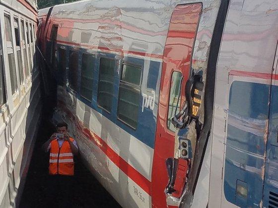 Два человека пострадали в ЧП с поездами на Курском вокзале