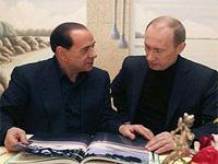 Путин провел переговоры с Берлускони