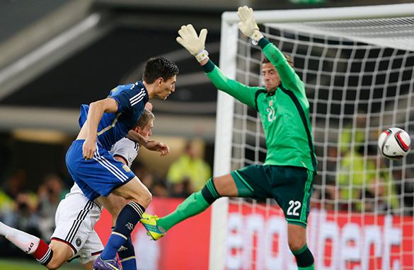 Германия проиграла Аргентине в товарищеском матче 4-2. футбол,Германия,Аргентина